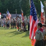 Scouts at flags